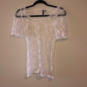Bke lace shirt white